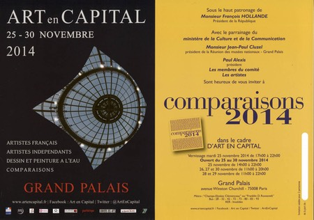 ART EN CAPITAL : COMPARAISON 2014