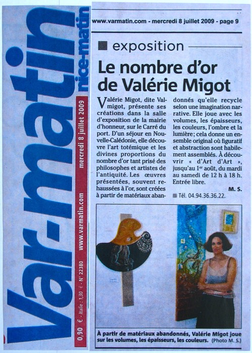 Article Presse VAR MATIN