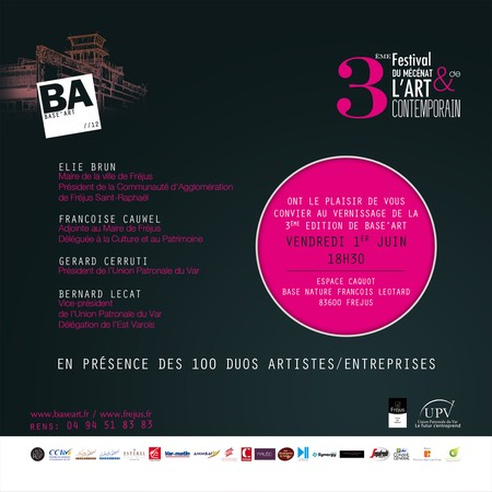 BASE'ART 2012 INVITATION VERSO